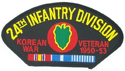 24th Infantry Division Korean War Veteran Patches